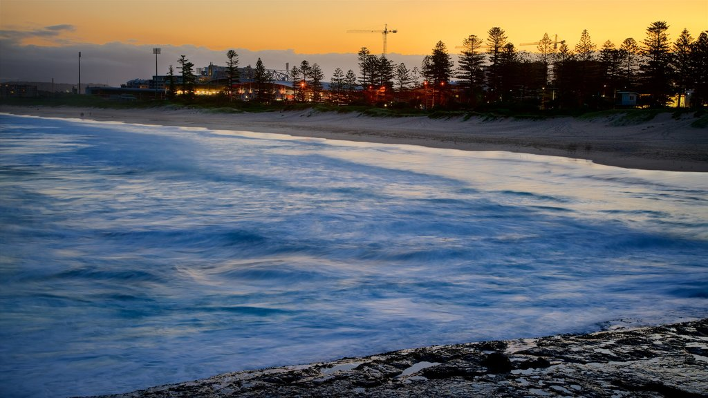 Wollongong South Beach featuring snow and a sunset
