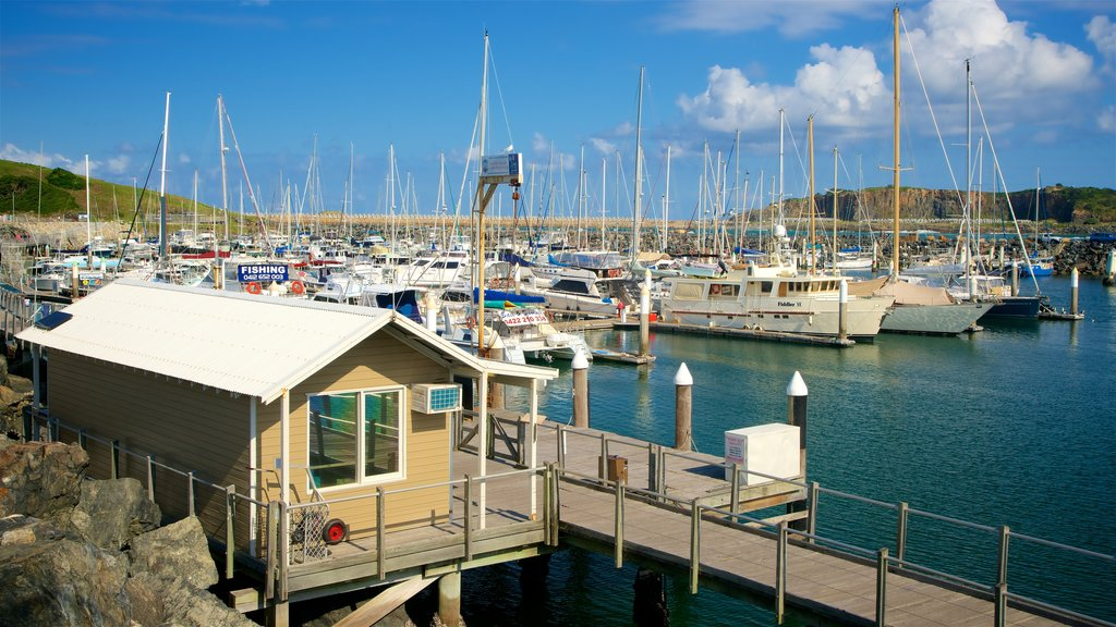 Coffs Harbour Marina which includes boating and a marina