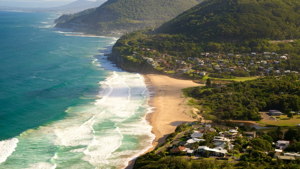 Bald Hill Lookout featuring a coastal town, landscape views and general coastal views