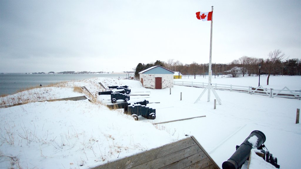 Prince Edward Battery showing snow