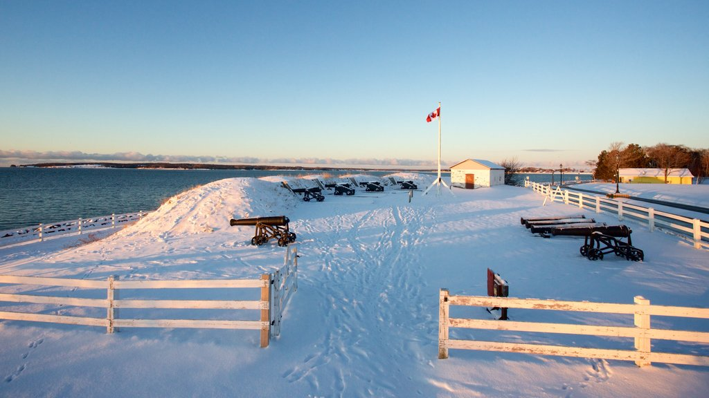 Prince Edward Battery which includes snow