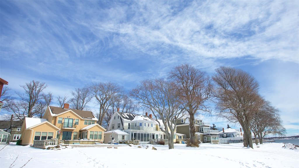 Charlottetown which includes snow and a house