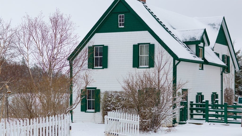 Green Gables which includes a house and snow