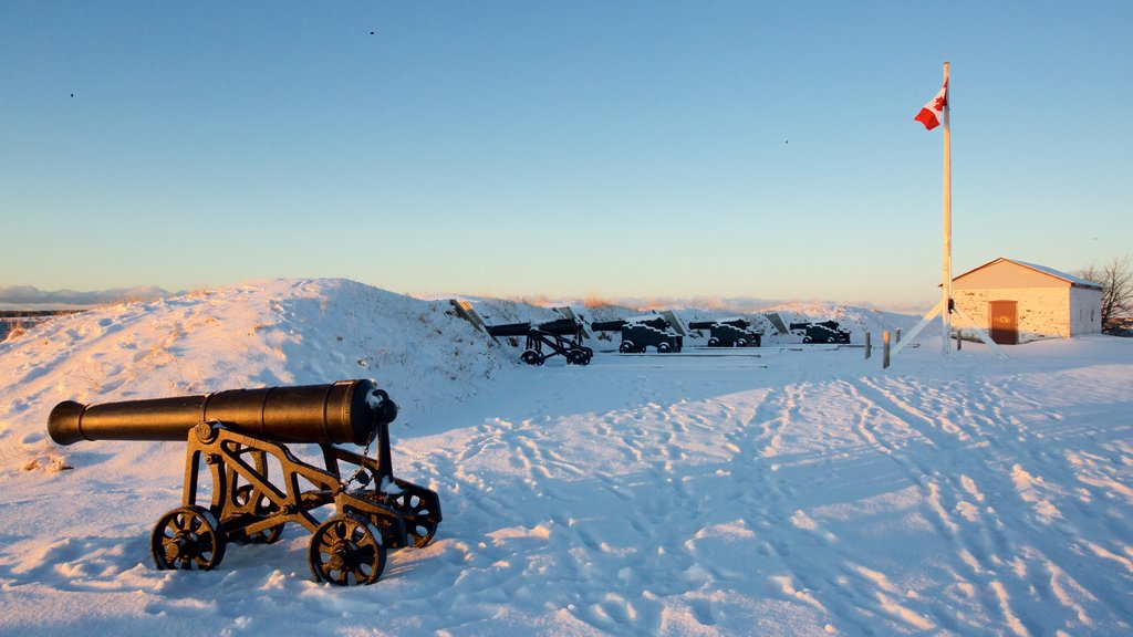 Prince Edward Battery featuring snow