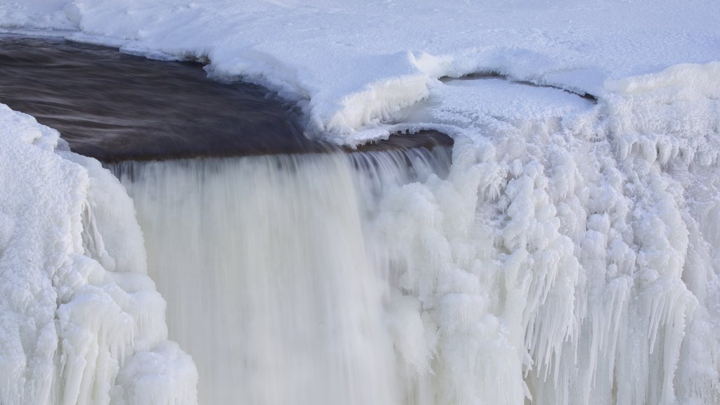 Ottawa showing a waterfall and snow