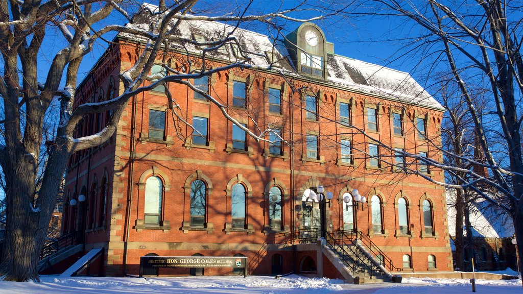 Charlottetown which includes snow