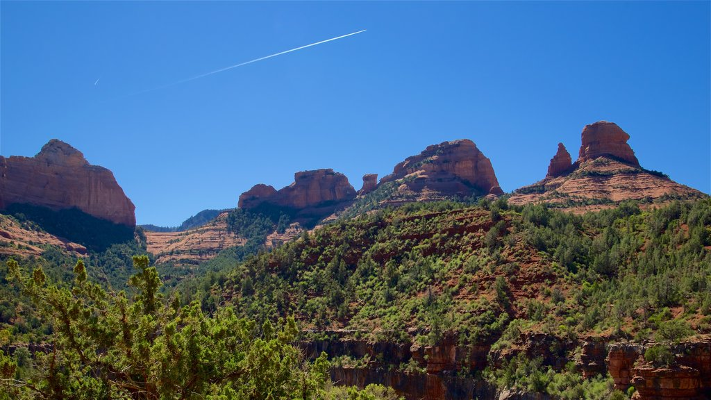 Sedona which includes tranquil scenes and a gorge or canyon