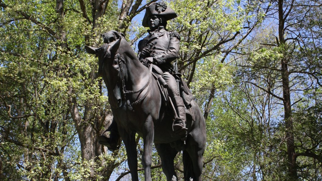 Guildford Courthouse National Military Park which includes a statue or sculpture