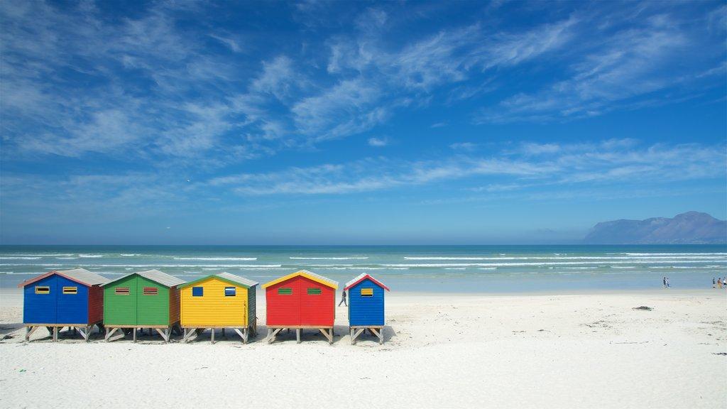 Muizenberg ofreciendo vistas generales de la costa y una playa