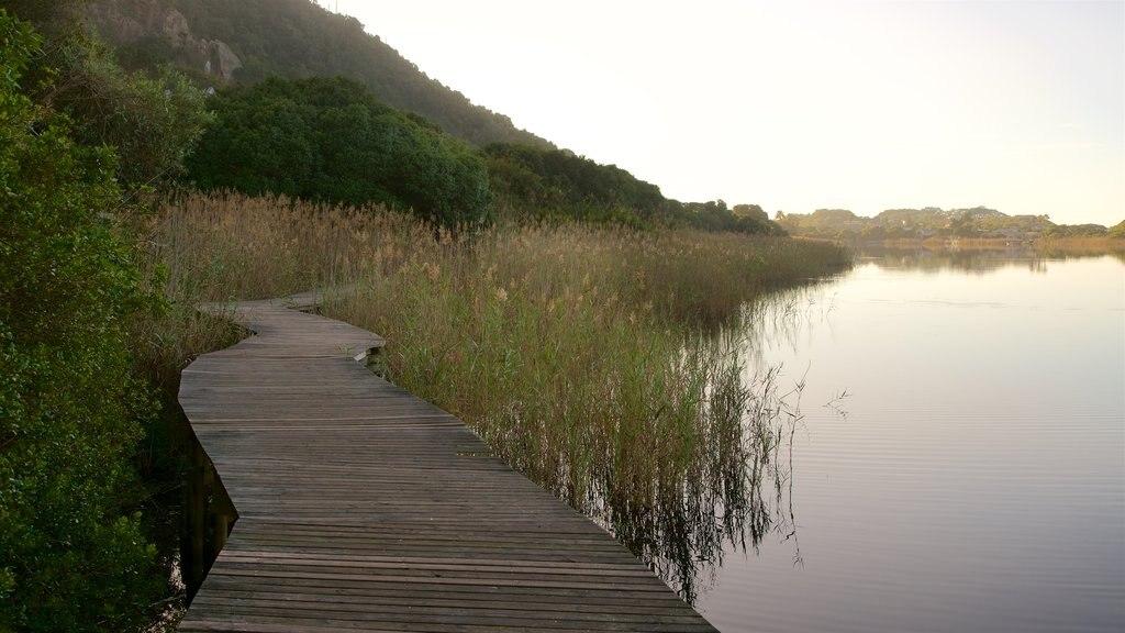 Parque Nacional Wilderness ofreciendo un lago o abrevadero, humedales y una puesta de sol
