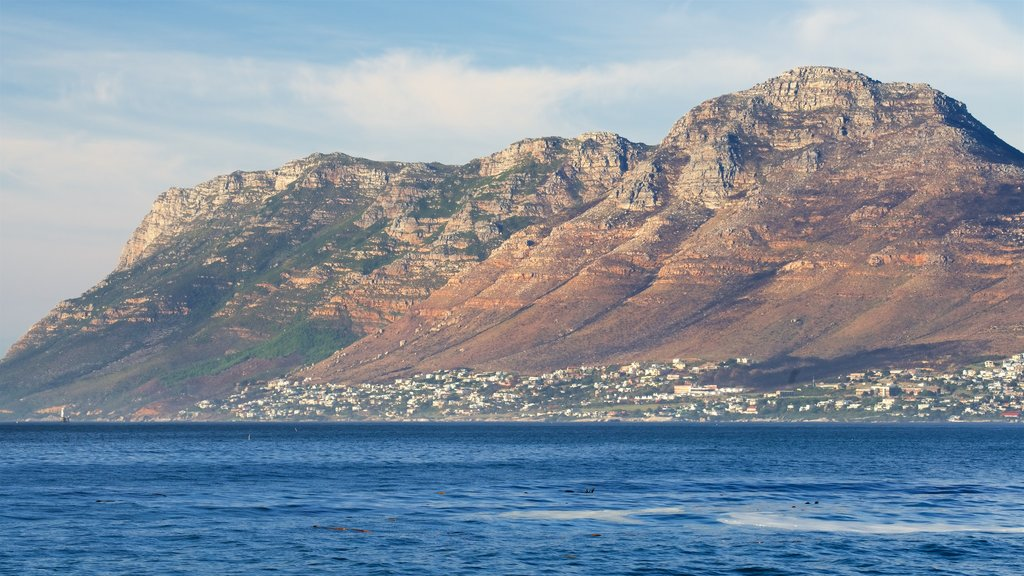 Kalk Bay featuring a coastal town, landscape views and mountains