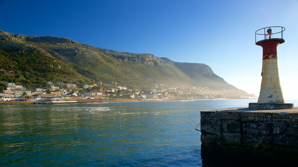 Kalk Bay featuring landscape views, mountains and a coastal town