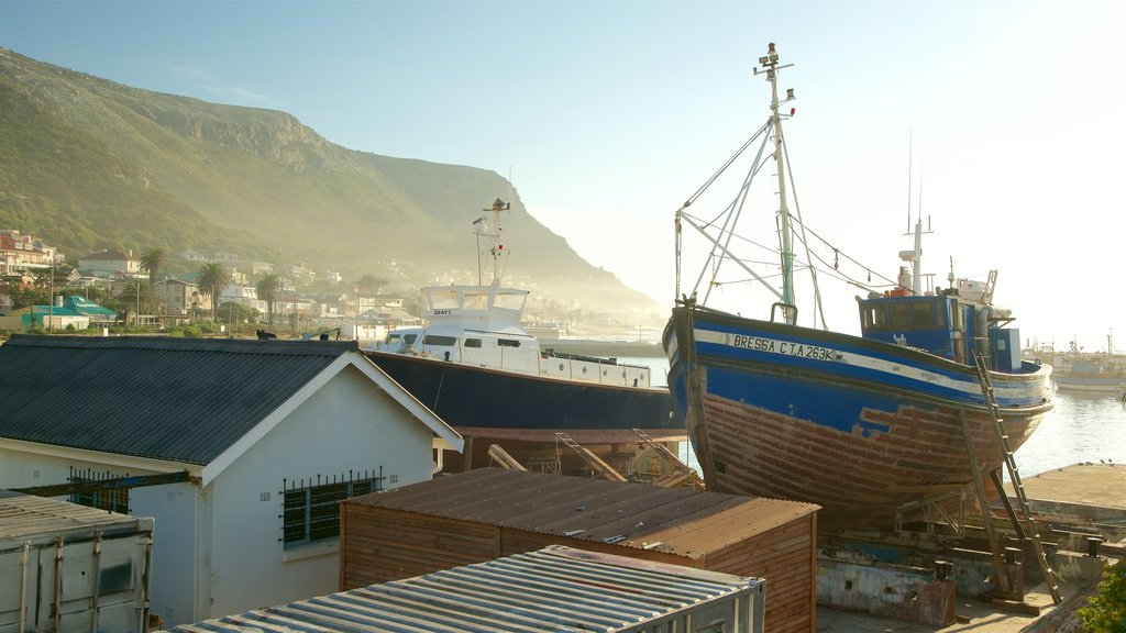 Kalk Bay which includes boating and a coastal town