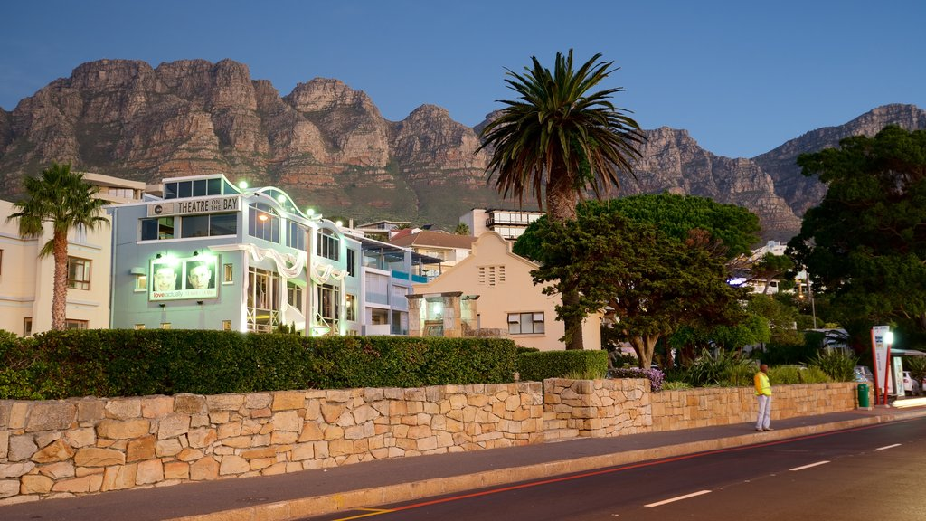Camps Bay Beach which includes a coastal town