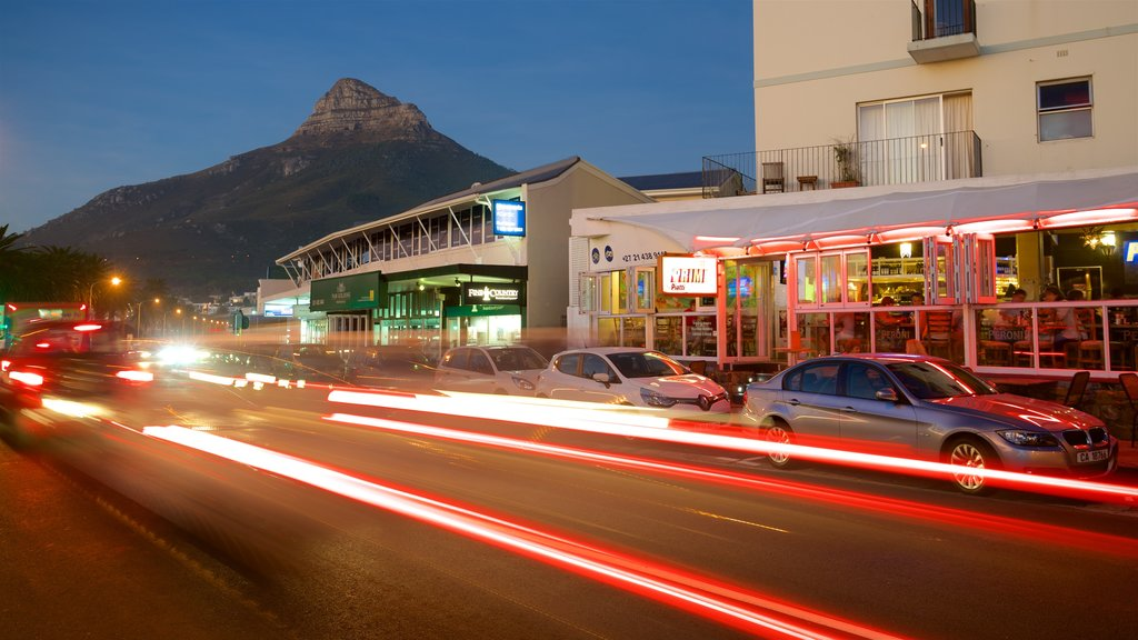 Camps Bay Beach showing nightlife