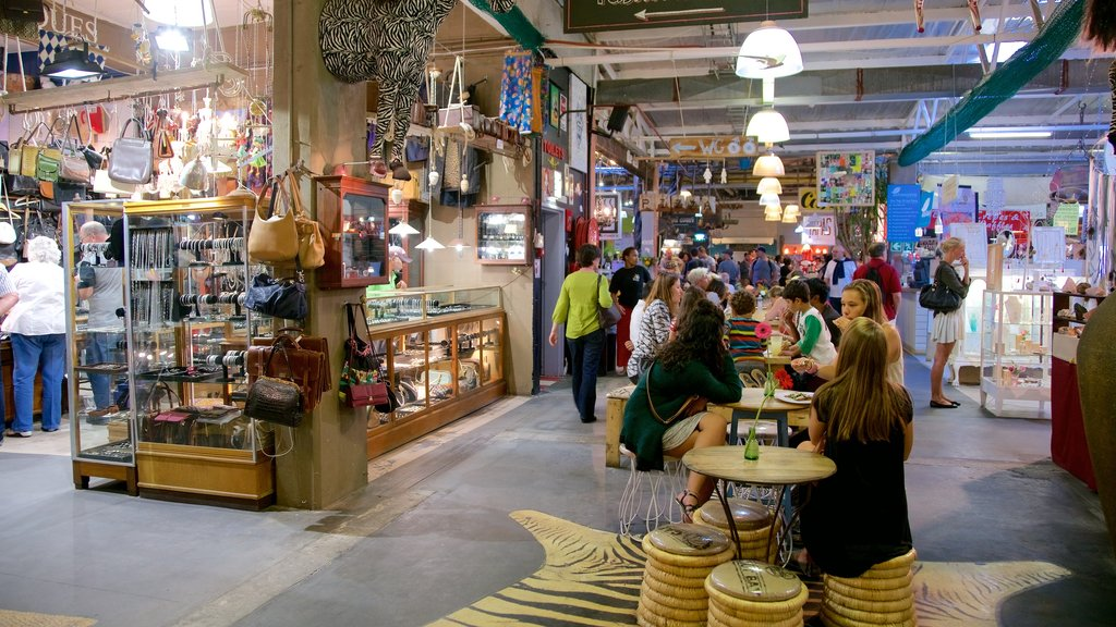 Hout Bay Craft Market which includes markets and interior views