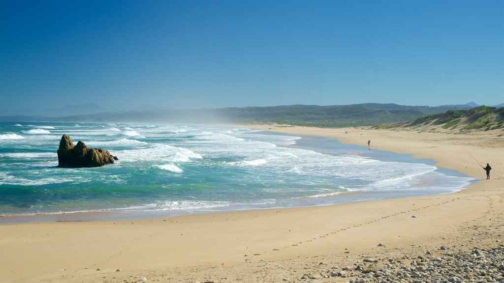 Goukamma Nature and Marine Reserve which includes a sandy beach, landscape views and fishing