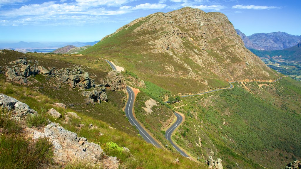 Franschhoek showing landscape views, vehicle touring and mountains