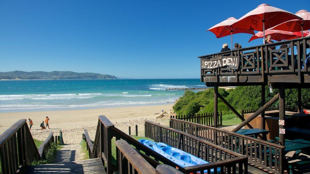 Knysna which includes outdoor eating, a beach bar and a sandy beach