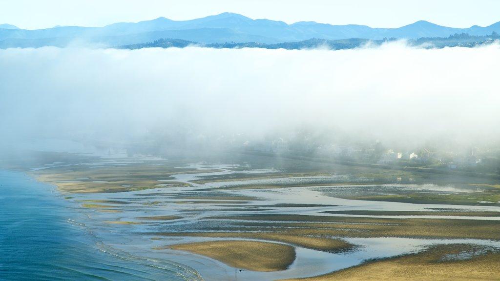 Knysna featuring mist or fog, landscape views and general coastal views