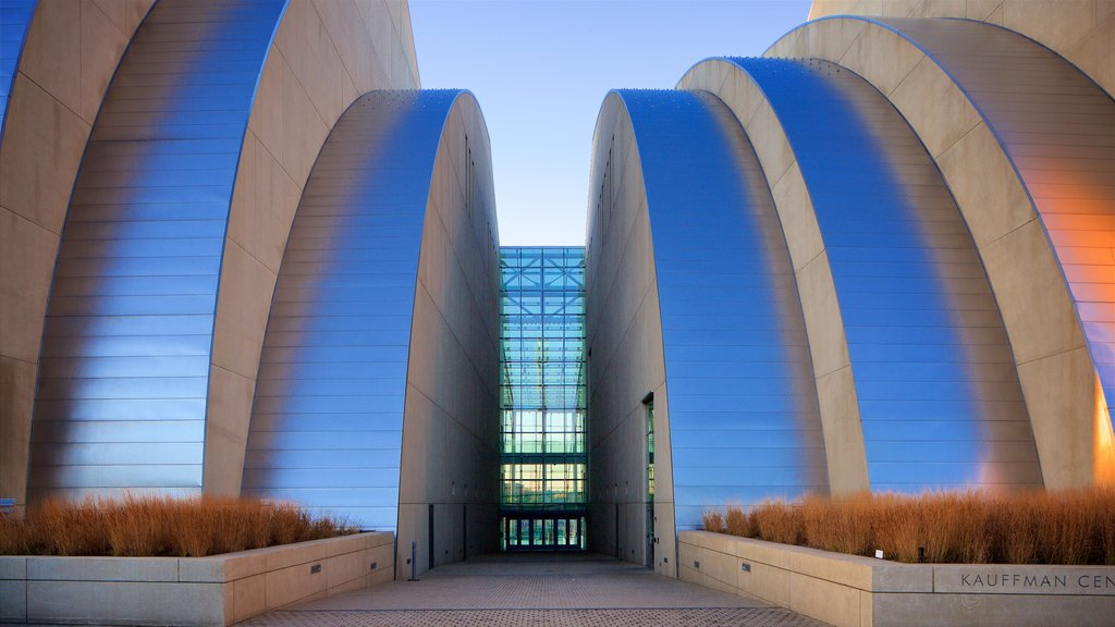 Kauffman Center for the Performing Arts which includes modern architecture