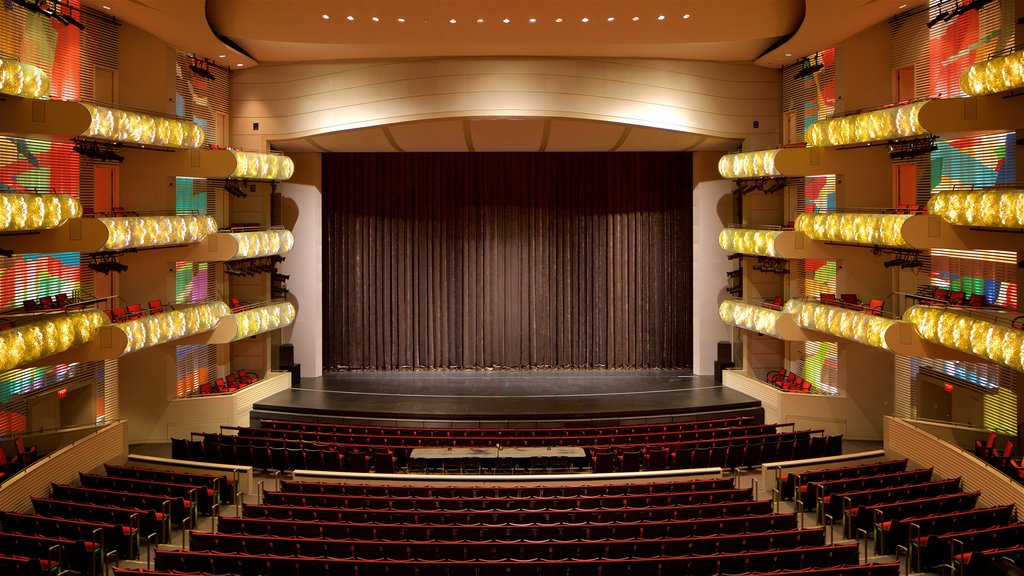 Kauffman Center for the Performing Arts which includes theater scenes and interior views