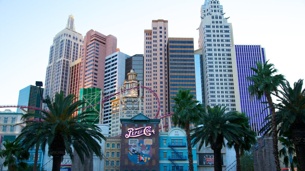 The Strip featuring a city, a high rise building and central business district