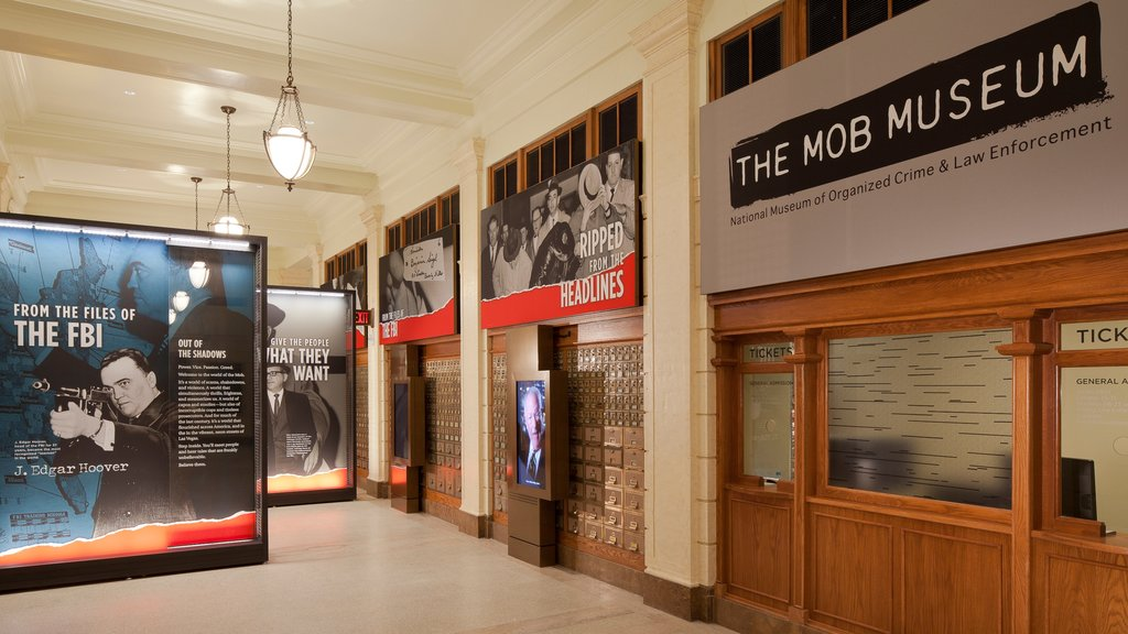 Mob Museum showing interior views