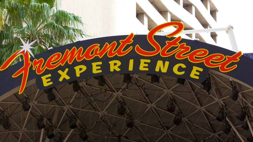 Fremont Street Experience which includes signage