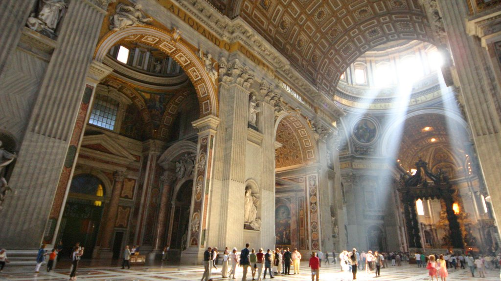 St. Peter\'s Basilica which includes a church or cathedral, heritage architecture and interior views