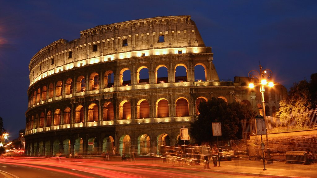 Italy featuring a city, night scenes and heritage architecture