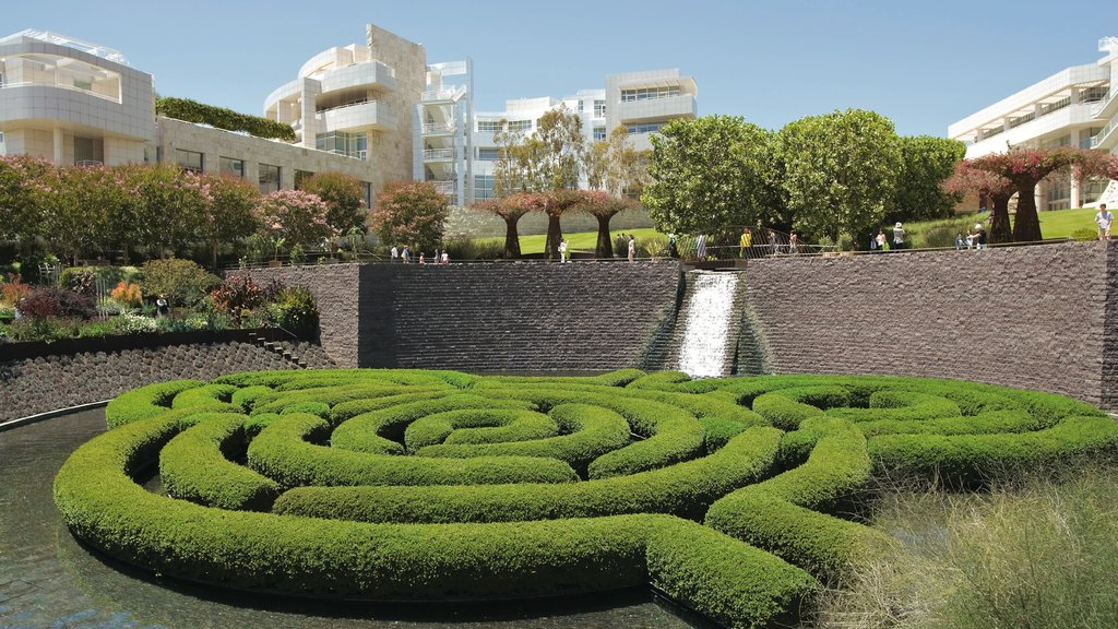 Getty Center featuring a city and a park