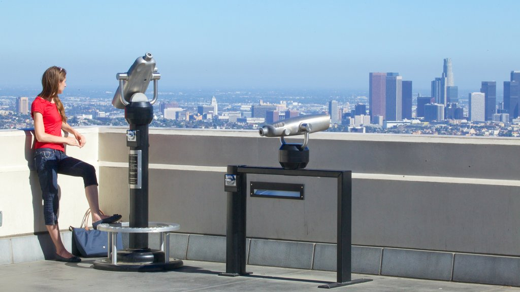 Griffith Observatory featuring views, a high rise building and a city