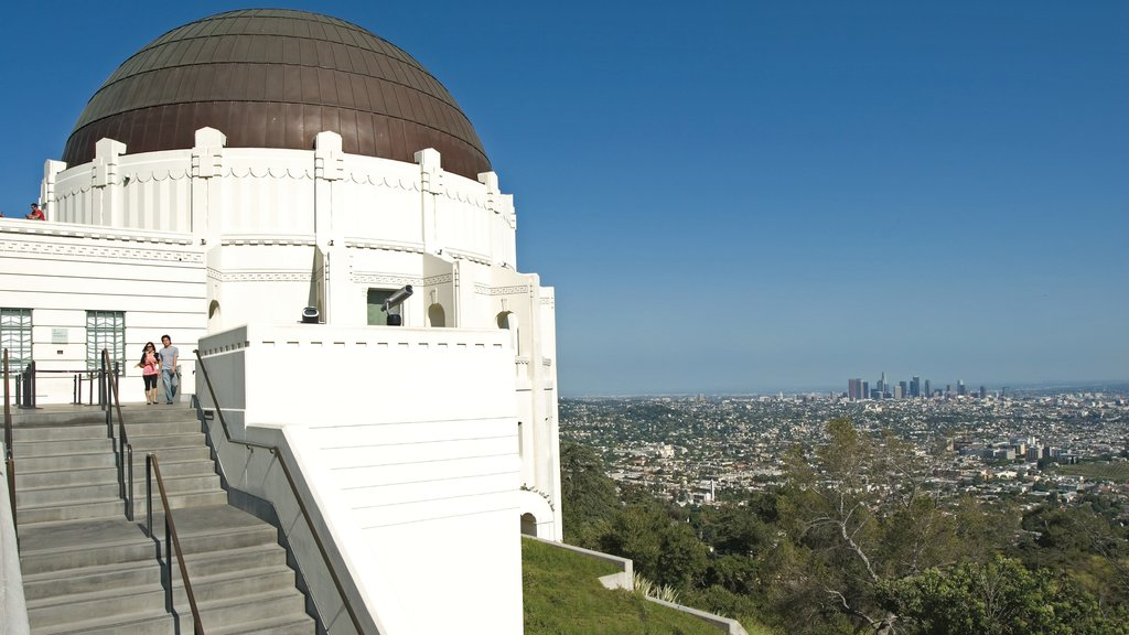 Griffith Observatory which includes a city, an observatory and views