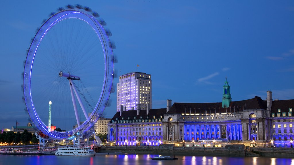 London which includes rides, a river or creek and a city