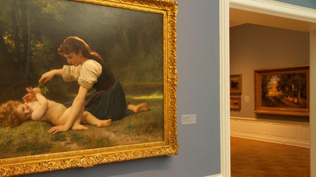 Portland Art Museum featuring interior views and art