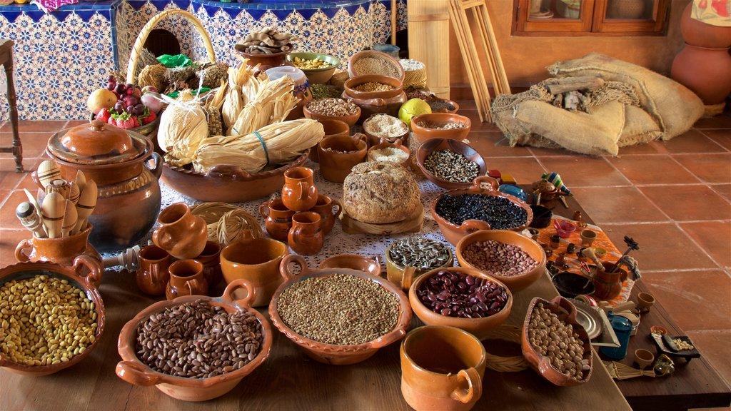 Querétaro mostrando vistas interiores y comida