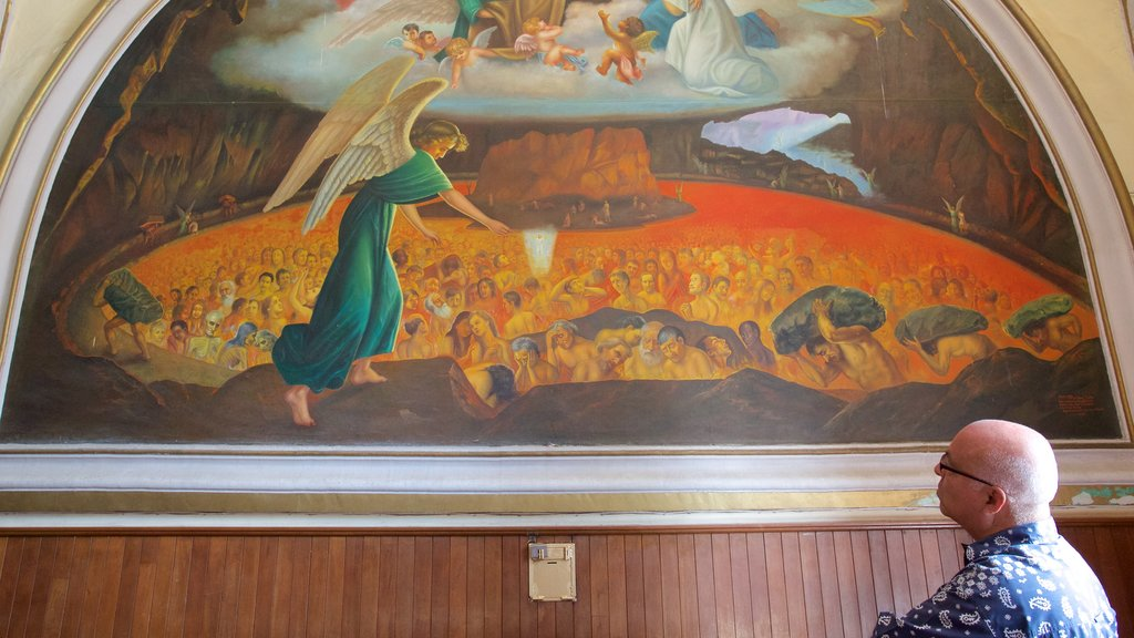 San Marcos Church featuring art, religious aspects and interior views