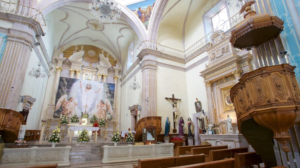 San Marcos Church featuring a church or cathedral and interior views