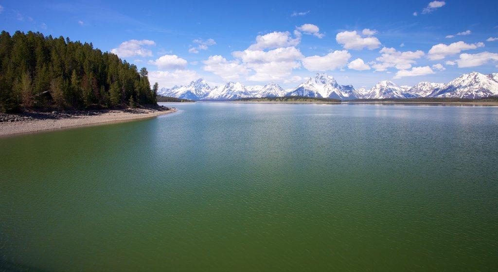 Parque Nacional Grand Teton ofreciendo un lago o abrevadero