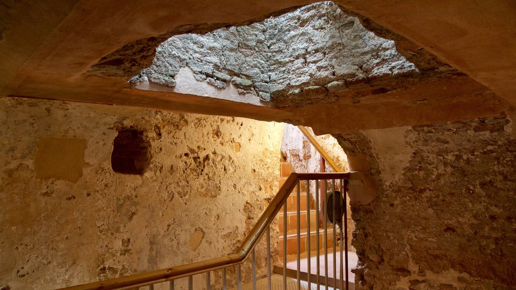Moorish Castle featuring interior views