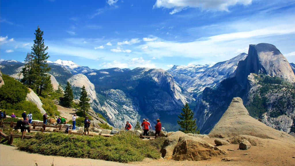 Glacier Point which includes tranquil scenes and landscape views as well as a small group of people