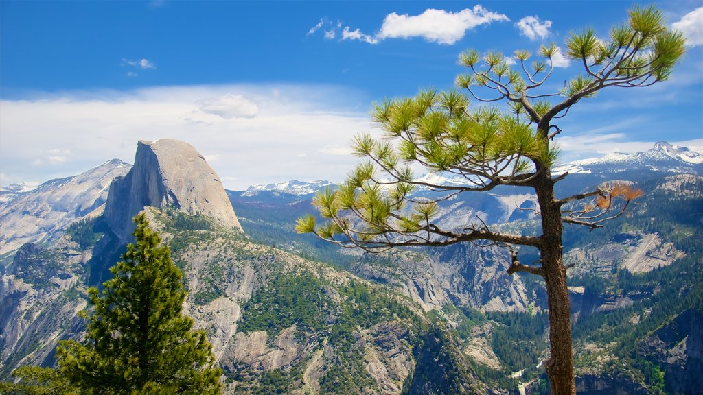 Glacier Point which includes landscape views and tranquil scenes