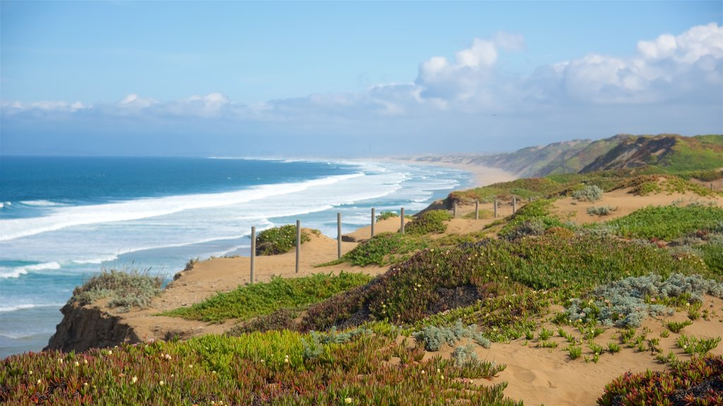 Fort Ord Dunes State Park showing general coastal views, landscape views and a bay or harbor