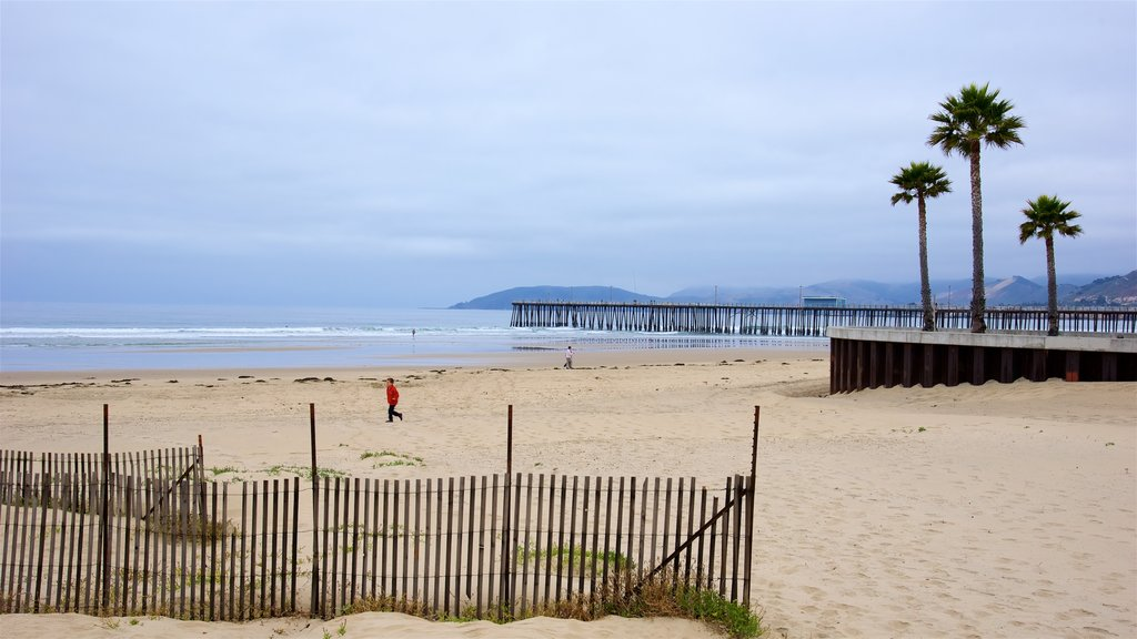 Pismo Beach which includes surf and a sandy beach