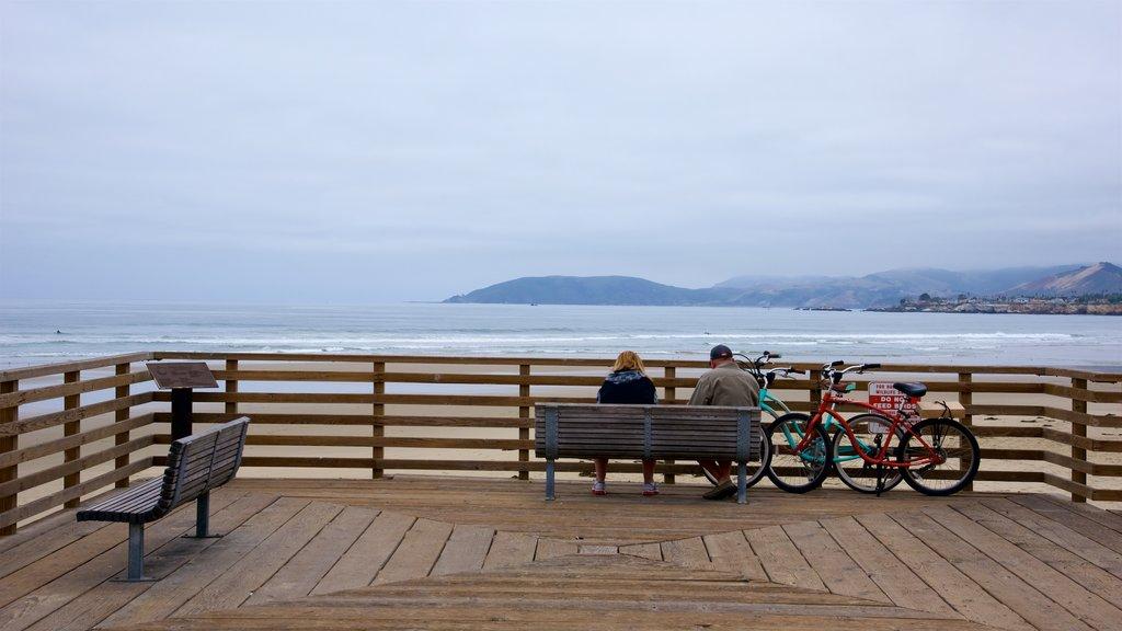 Pismo Beach which includes a beach as well as a couple