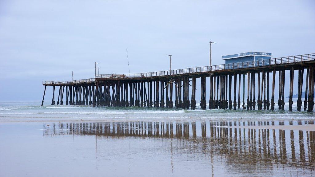 Pismo Beach Pier featuring a beach
