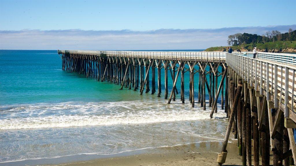 San Simeon Pier featuring a sandy beach