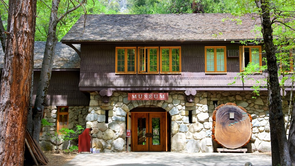 Yosemite Museum Gallery showing a house