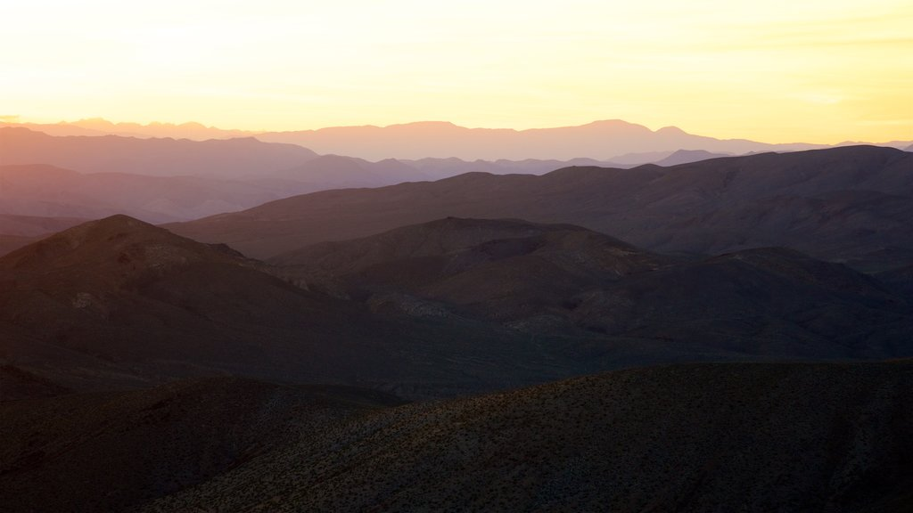Death Valley featuring tranquil scenes, landscape views and a sunset